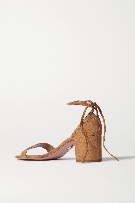Aquazzura City 50 suede sandals