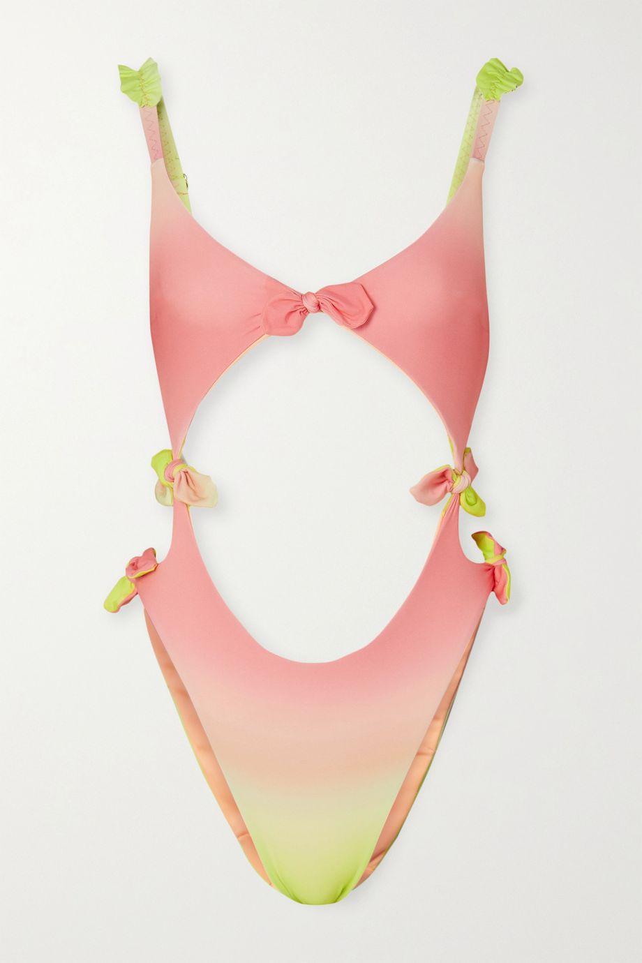 Agent Provocateur Nemi ombré bow-detailed cutout swimsuit