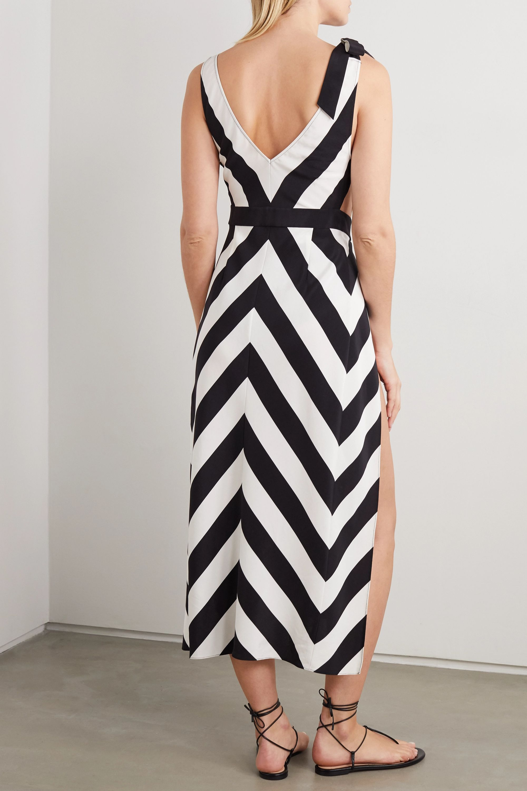 Agent Provocateur Jonelle belted cutout printed jersey dress