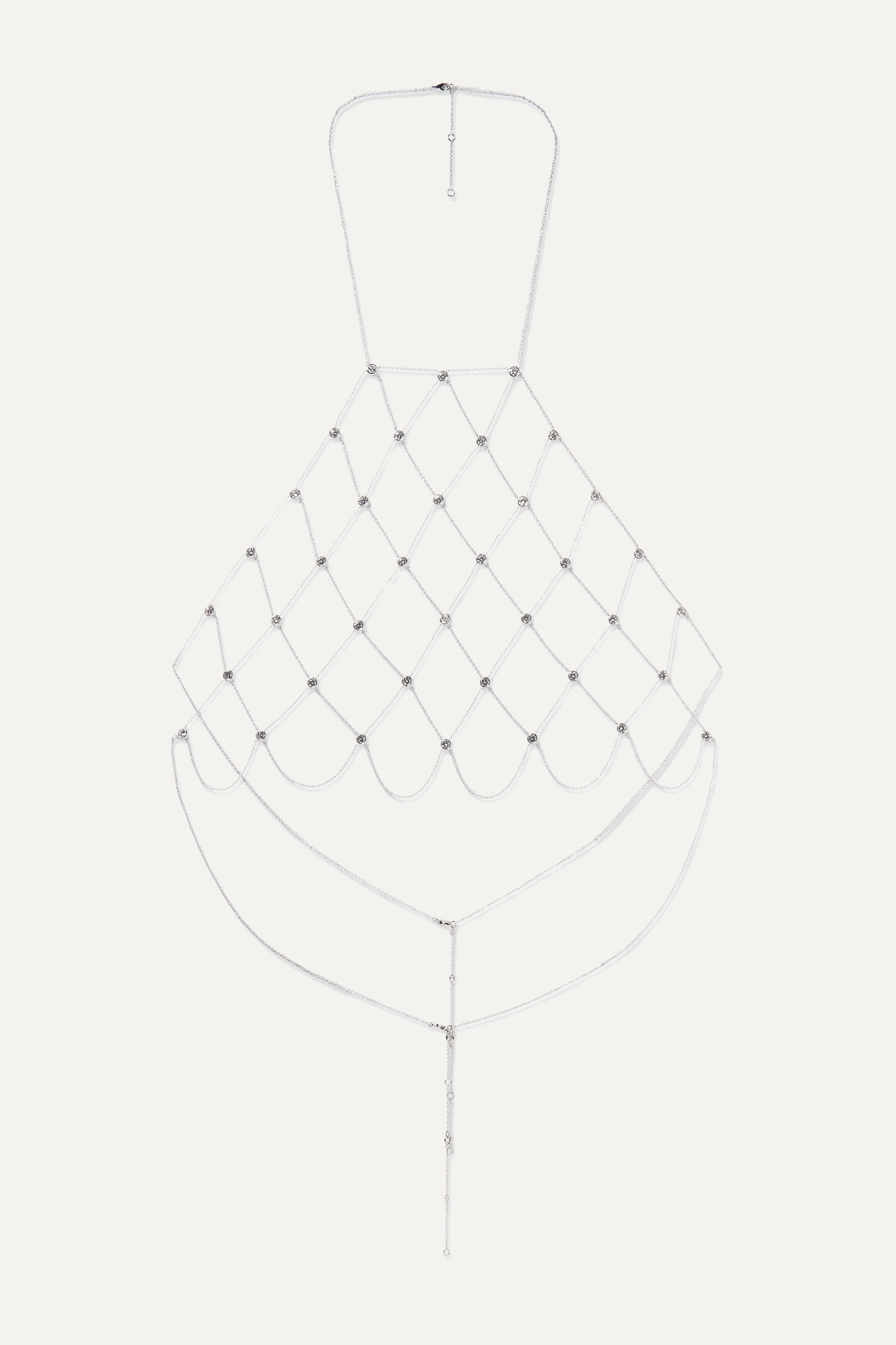 Kenneth Jay Lane Silver-tone cubic zirconia body chain