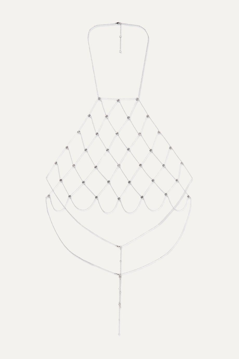 Kenneth Jay Lane Silver-tone cubic zirconia body chain