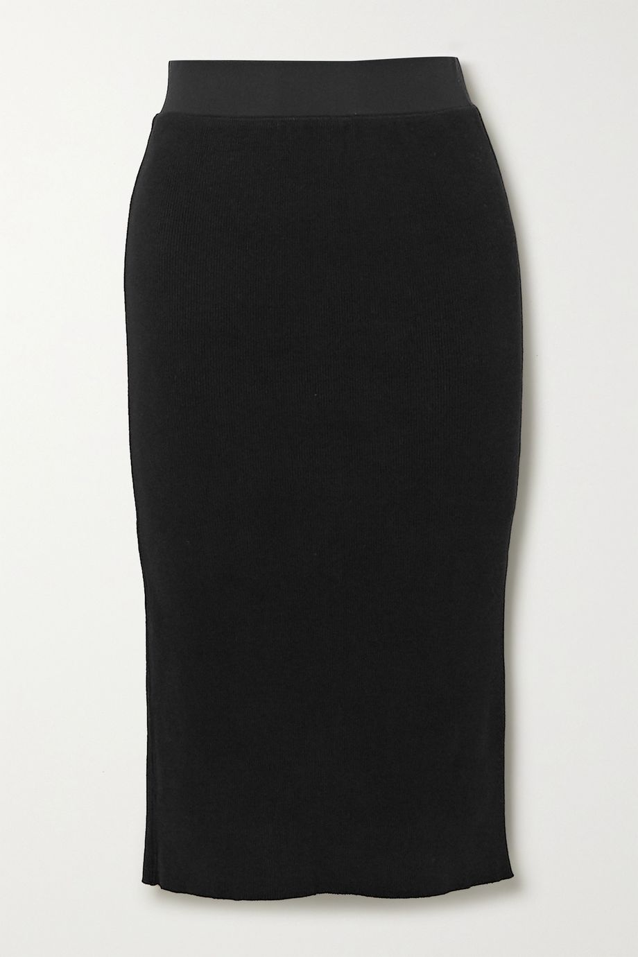 James Perse Ribbed cotton-blend midi skirt