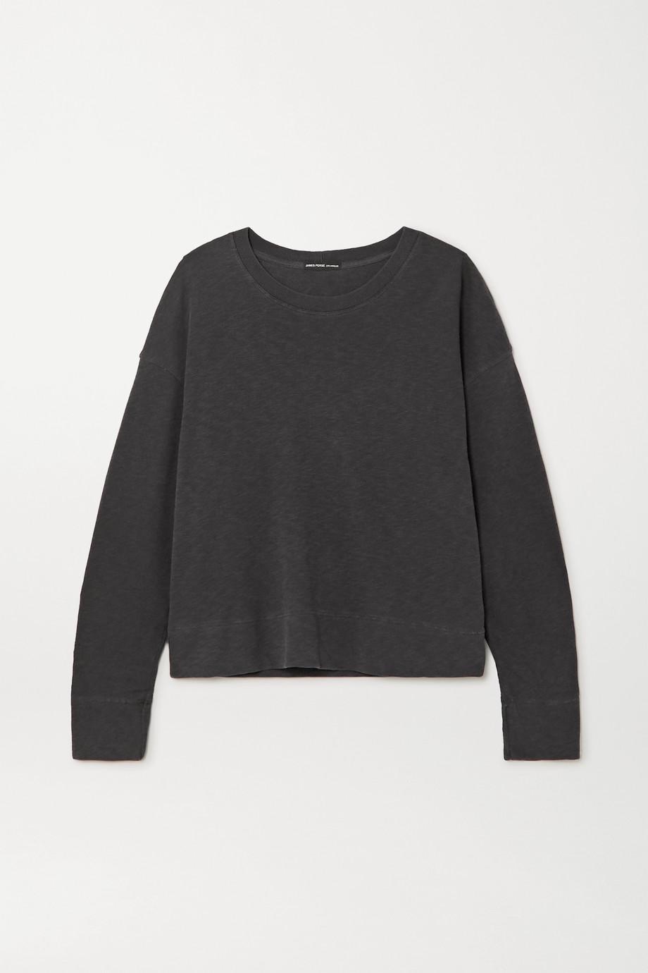 James Perse | Mélange cotton-jersey sweatshirt | NET-A-PORTER.COM