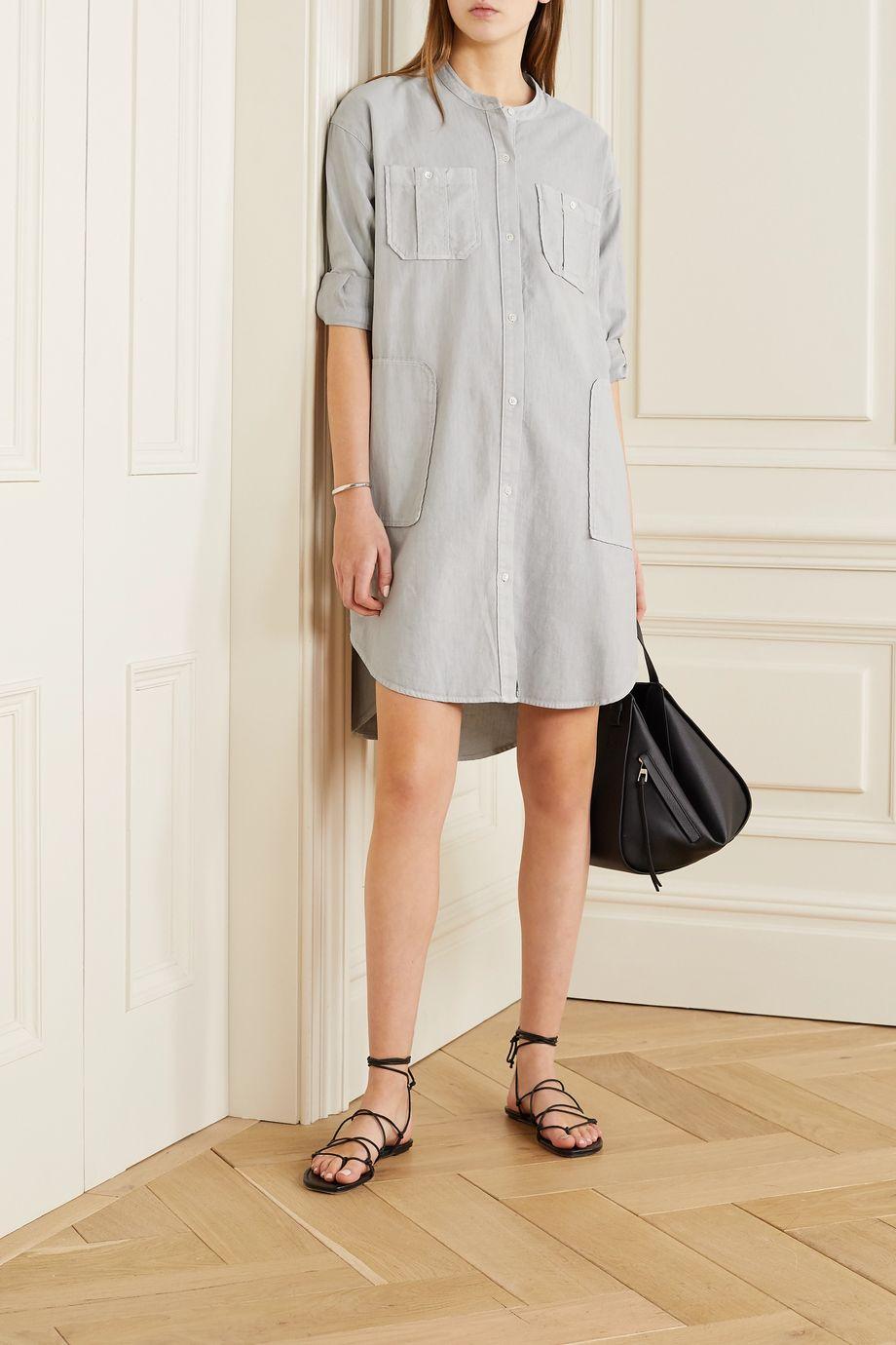 James Perse Cotton-twill shirt dress