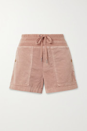 Military cotton-blend shorts