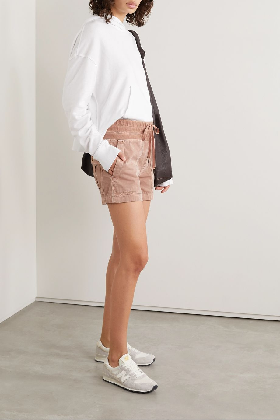 James Perse Military cotton-blend shorts