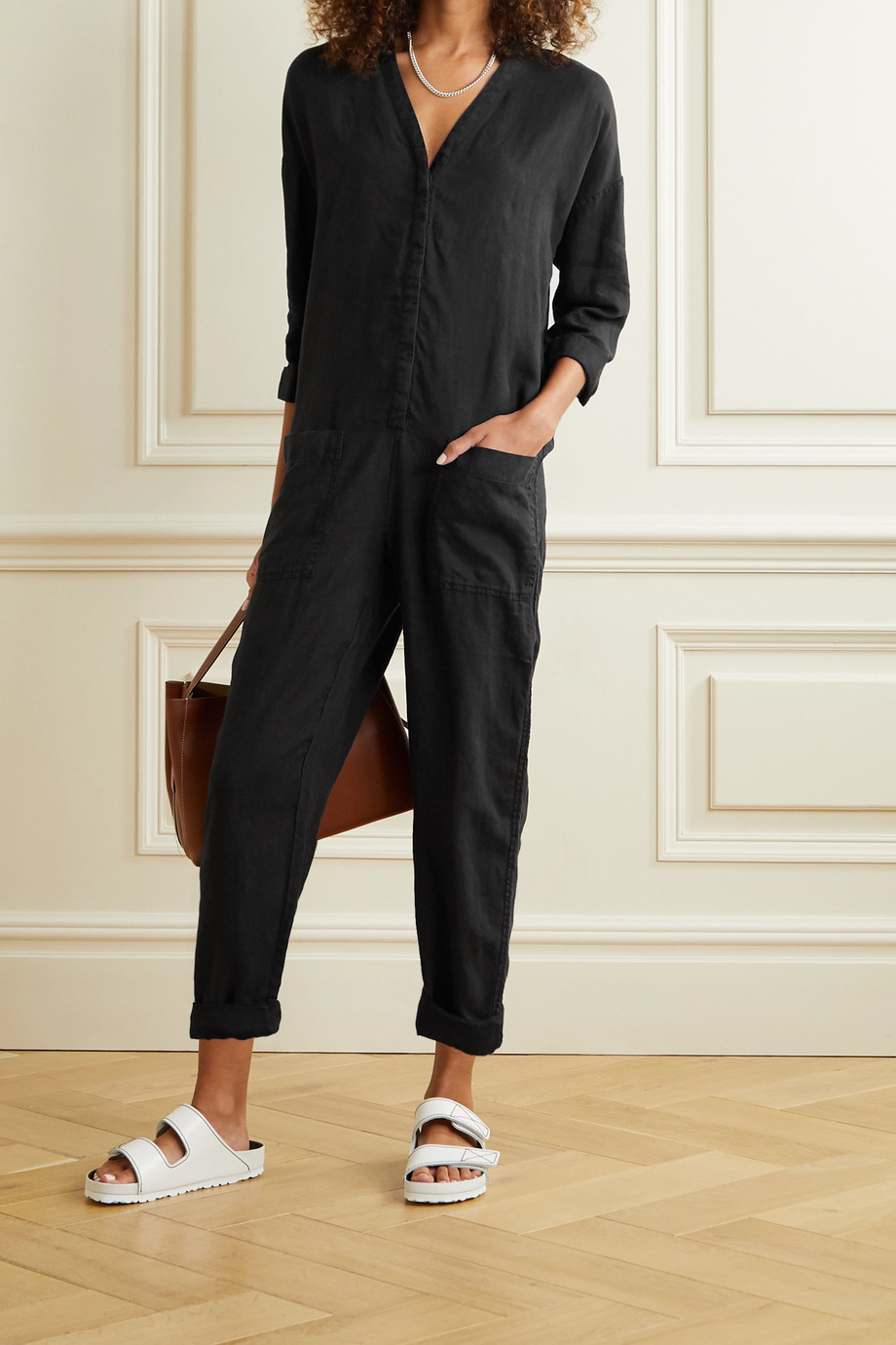 James Perse Combi-pantalon en lin
