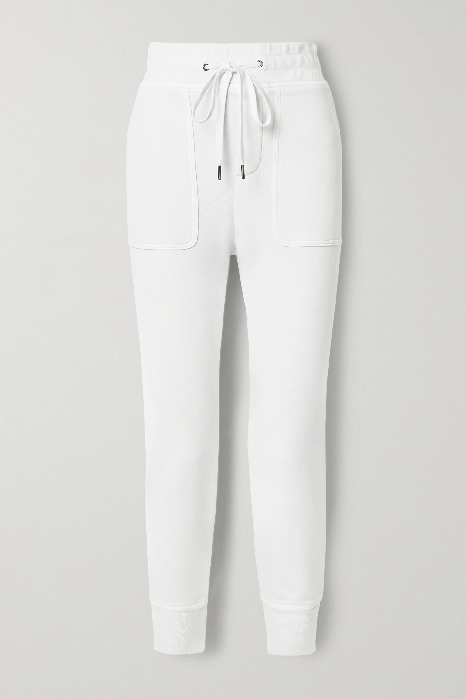 James Perse Lotus cotton-jersey track pants