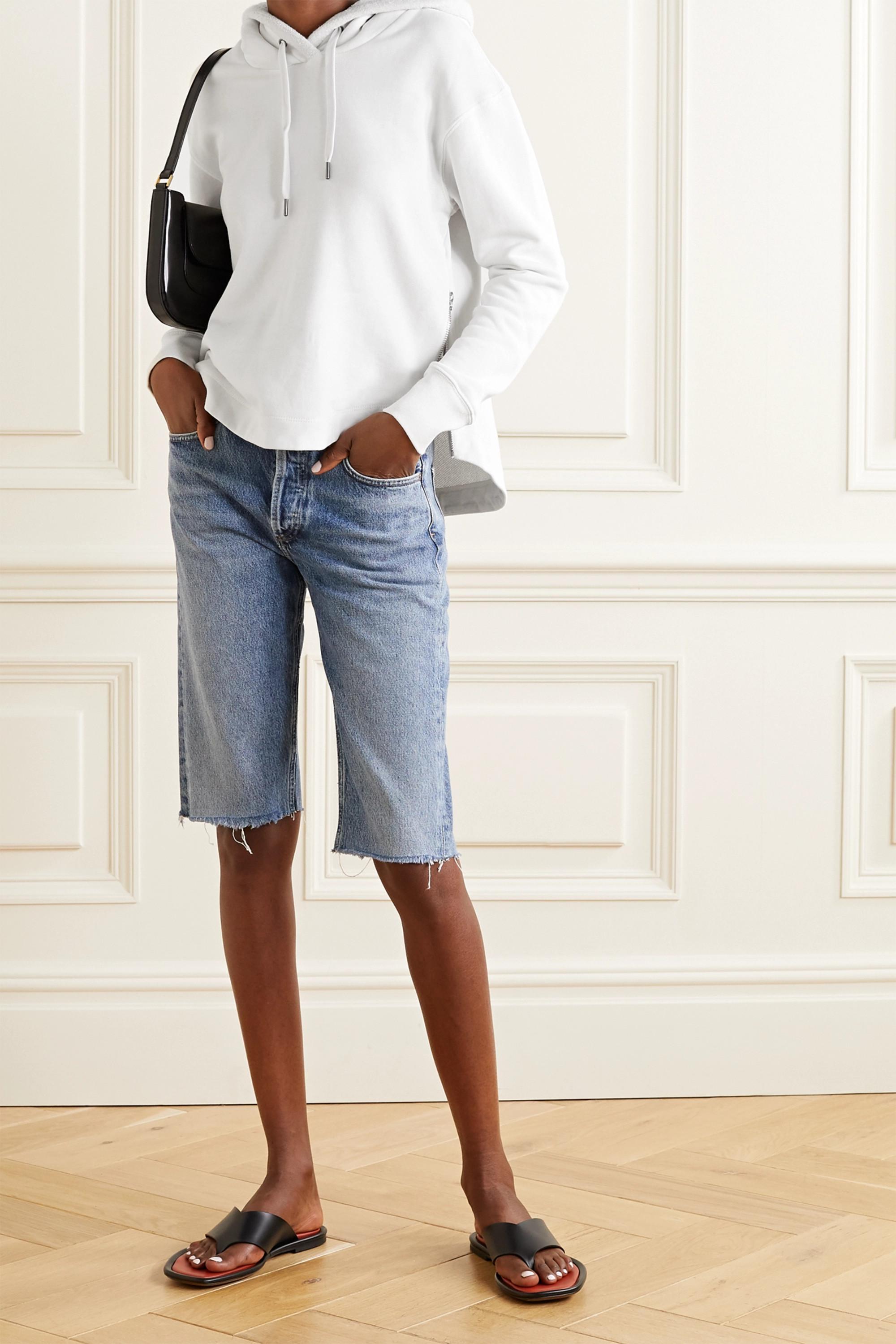 James Perse Zip-embellished cotton-jersey hoodie