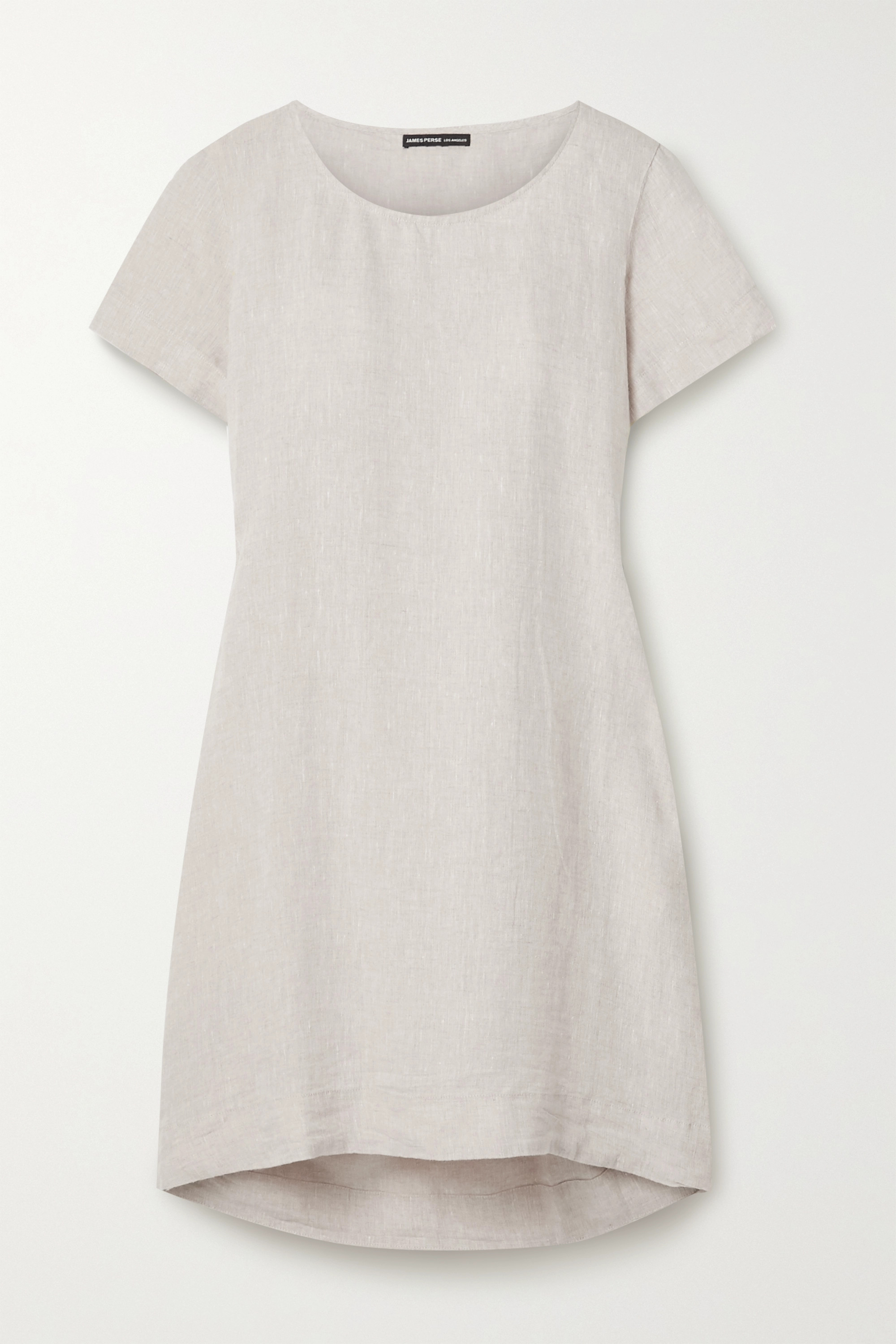 James Perse Pleated linen tunic