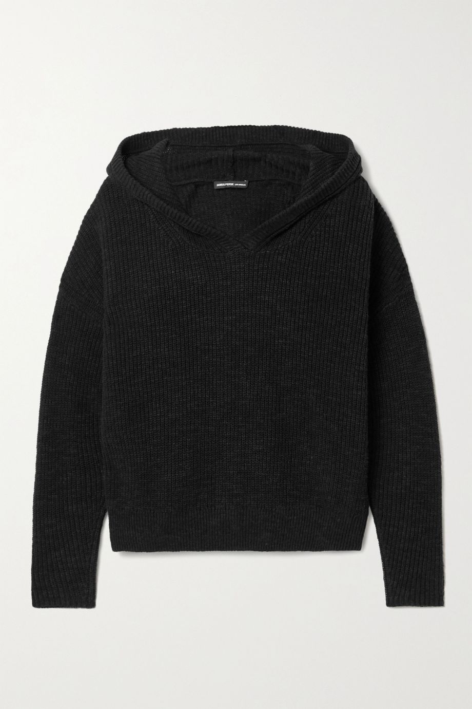 James Perse Ribbed cotton and linen-blend hoodie