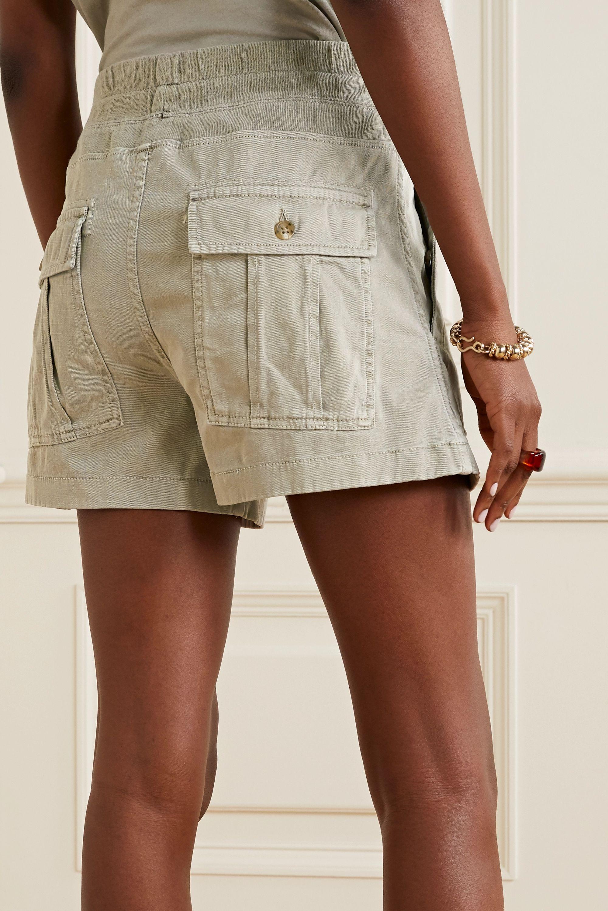James Perse Military slub cotton-blend shorts