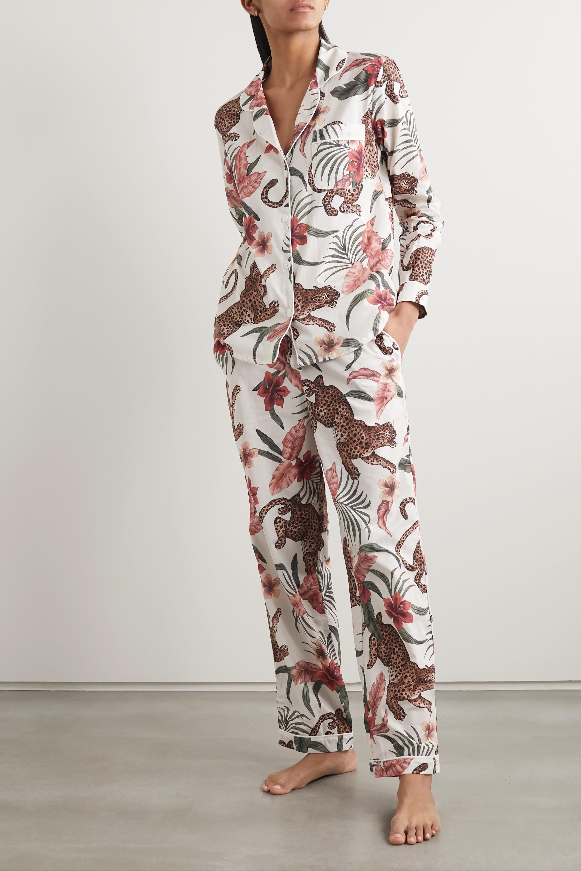 Desmond & Dempsey Soleia printed organic cotton-voile pajama set
