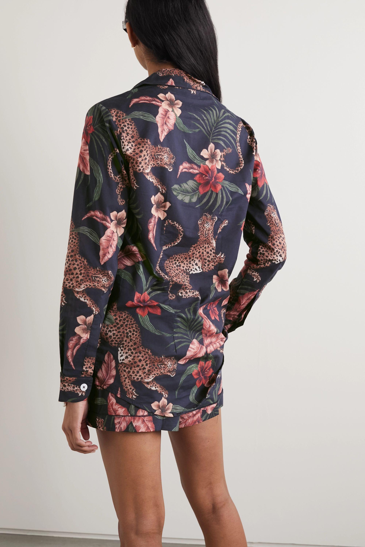 Desmond & Dempsey Soleia Pyjama aus Baumwoll-Voile mit Print