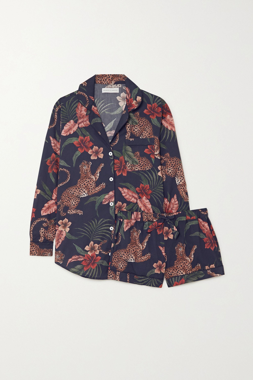Desmond & Dempsey Soleia printed cotton-voile pajama set