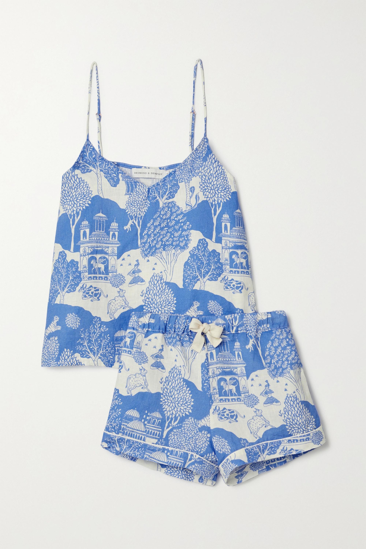 Desmond & Dempsey India printed linen pajama set