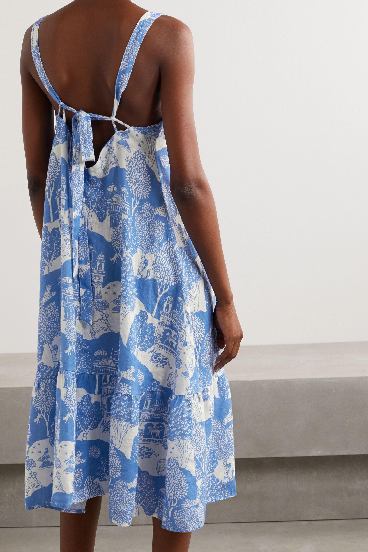 Desmond & Dempsey India printed linen nightdress