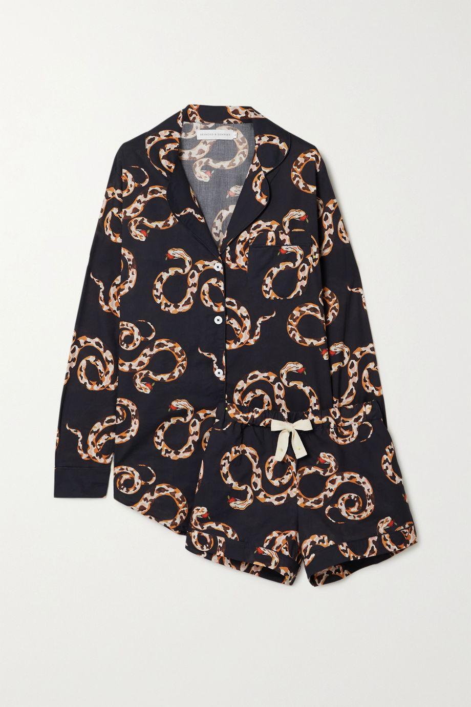 Desmond & Dempsey India printed organic cotton pajama set