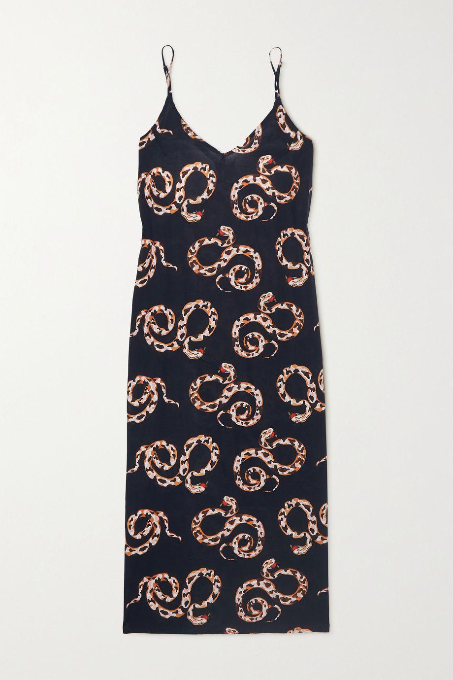 Desmond & Dempsey Printed organic cotton-voile nightdress