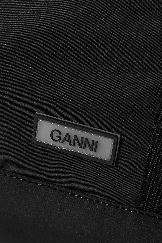 GANNI Large grosgrain-trimmed shell shoulder bag