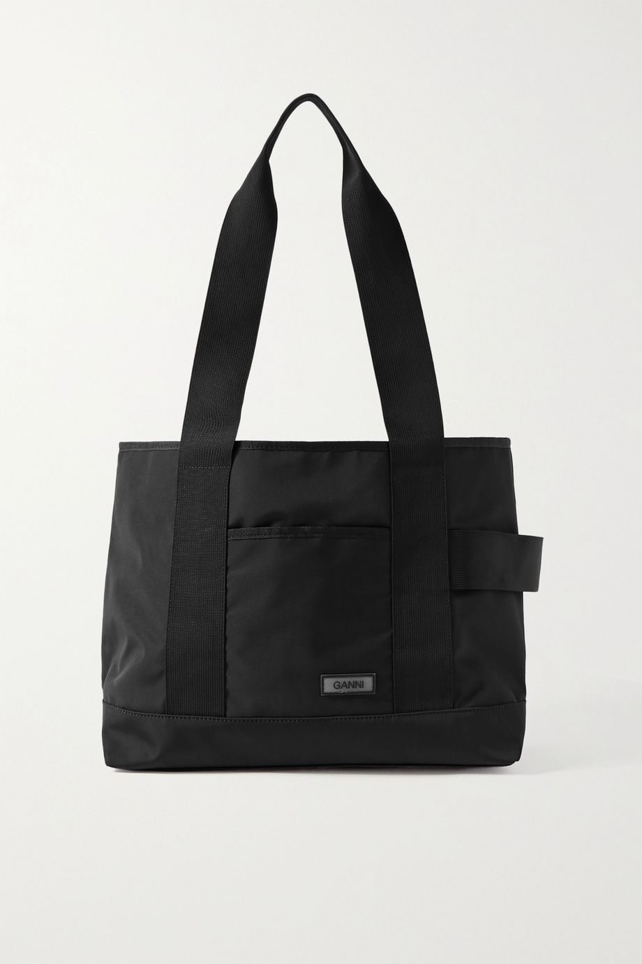 GANNI Large grosgrain-trimmed shell shoulder bag
