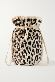 GANNI Mini beaded satin bucket bag