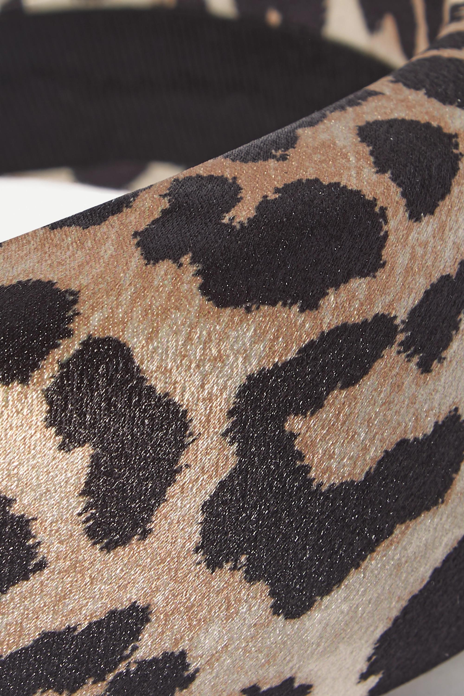 GANNI Leopard-print satin headband
