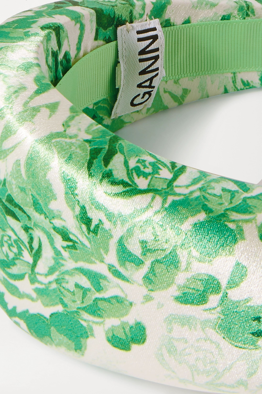 GANNI Floral-print satin headband