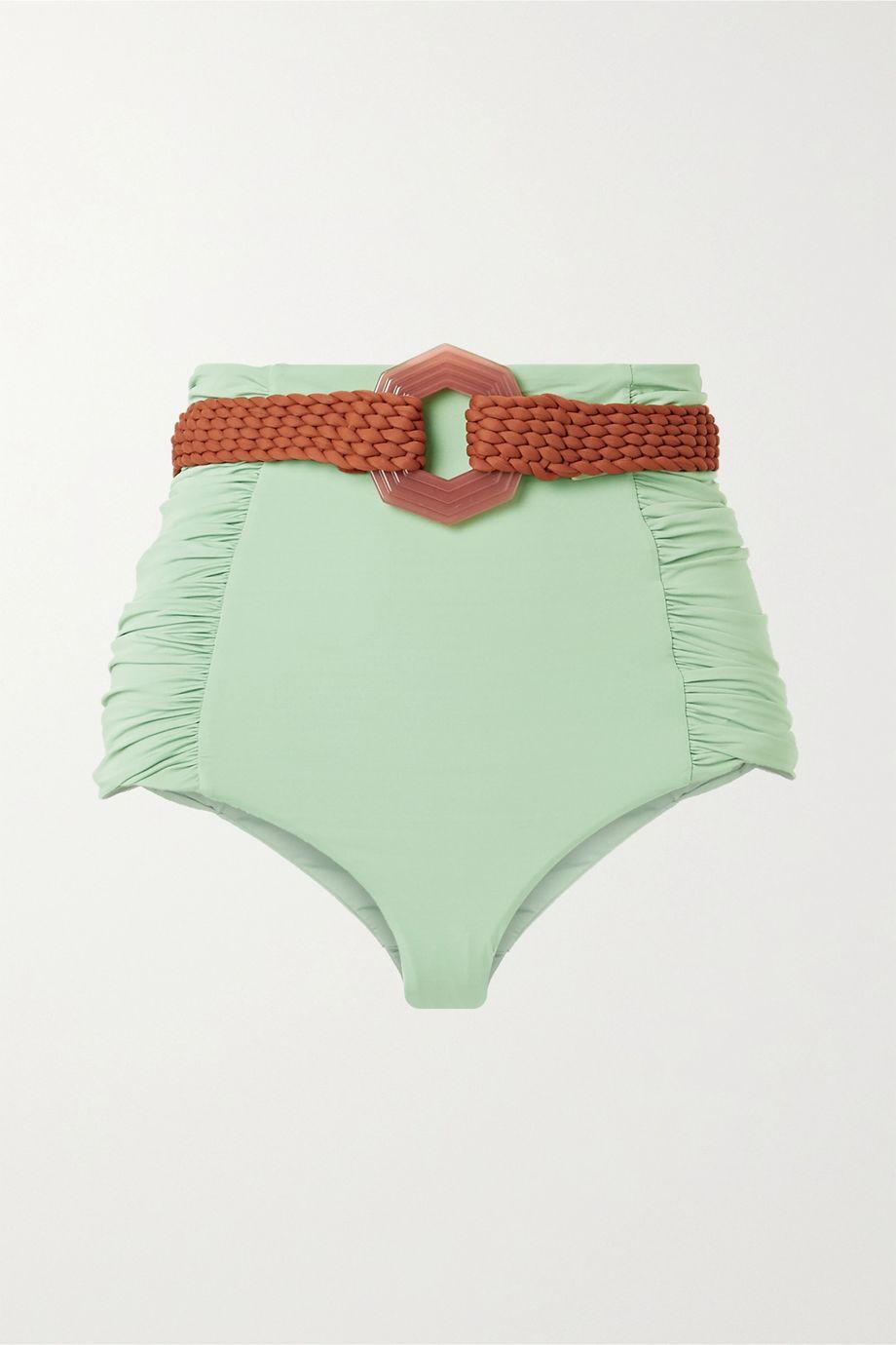 Johanna Ortiz Captivation belted ruched bikini briefs