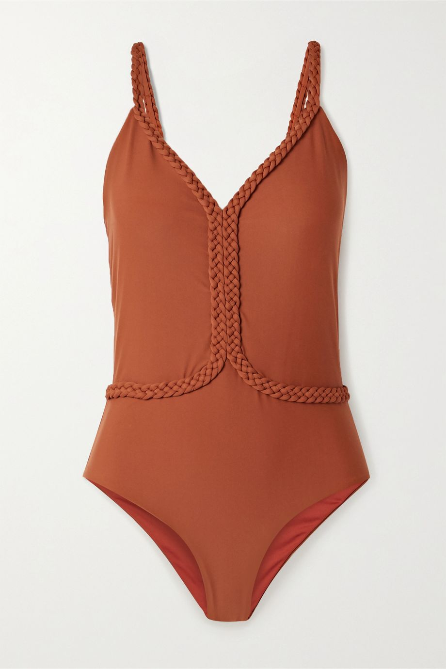 Johanna Ortiz Cape Code braid-trimmed swimsuit