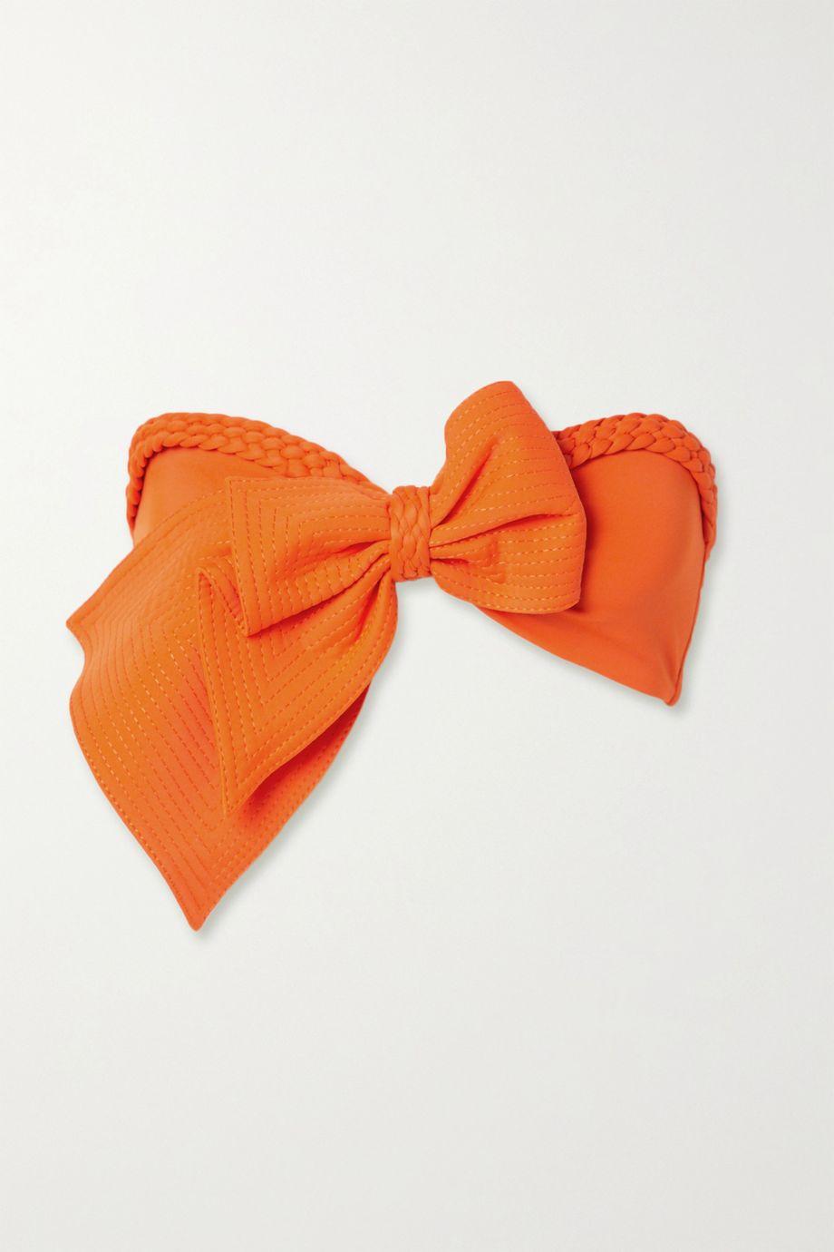 Johanna Ortiz Cove bow-embellished bandeau bikini top