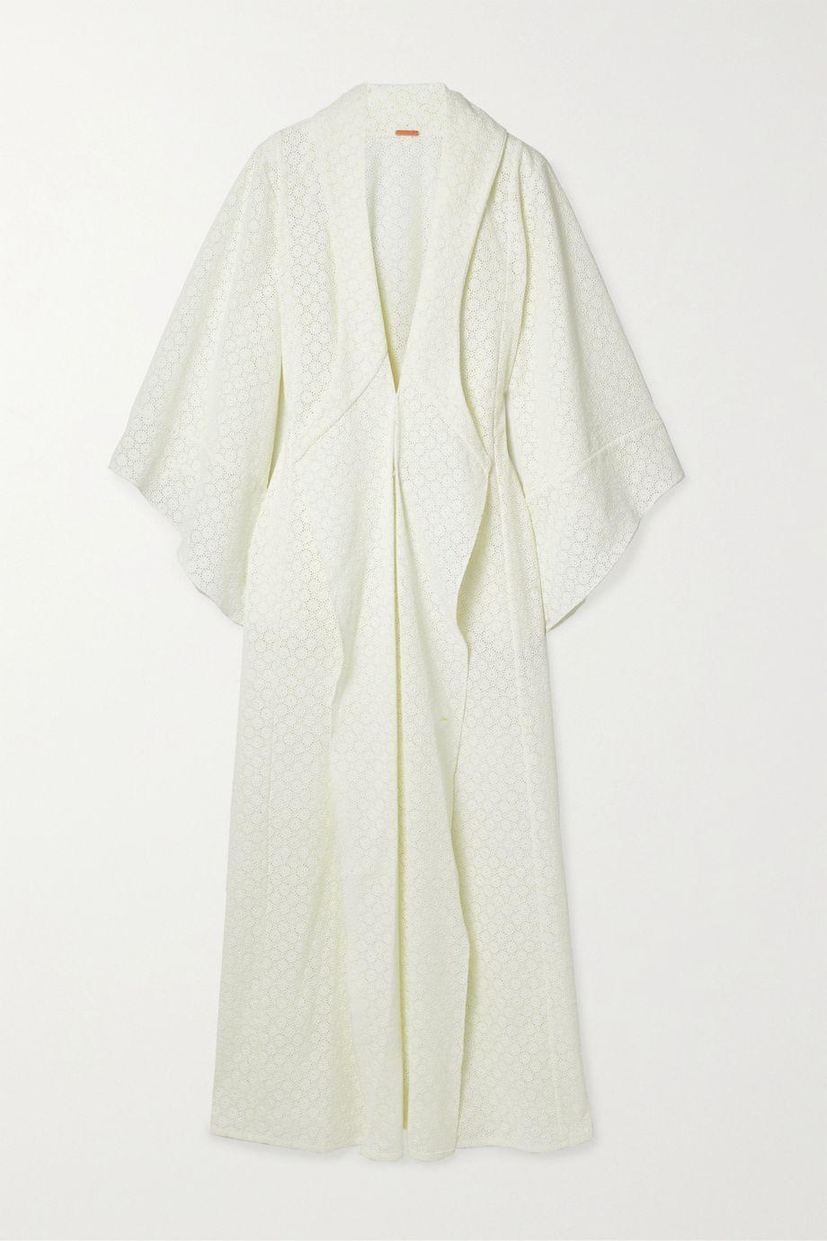 Johanna Ortiz Sea Gull crocheted cotton kimono