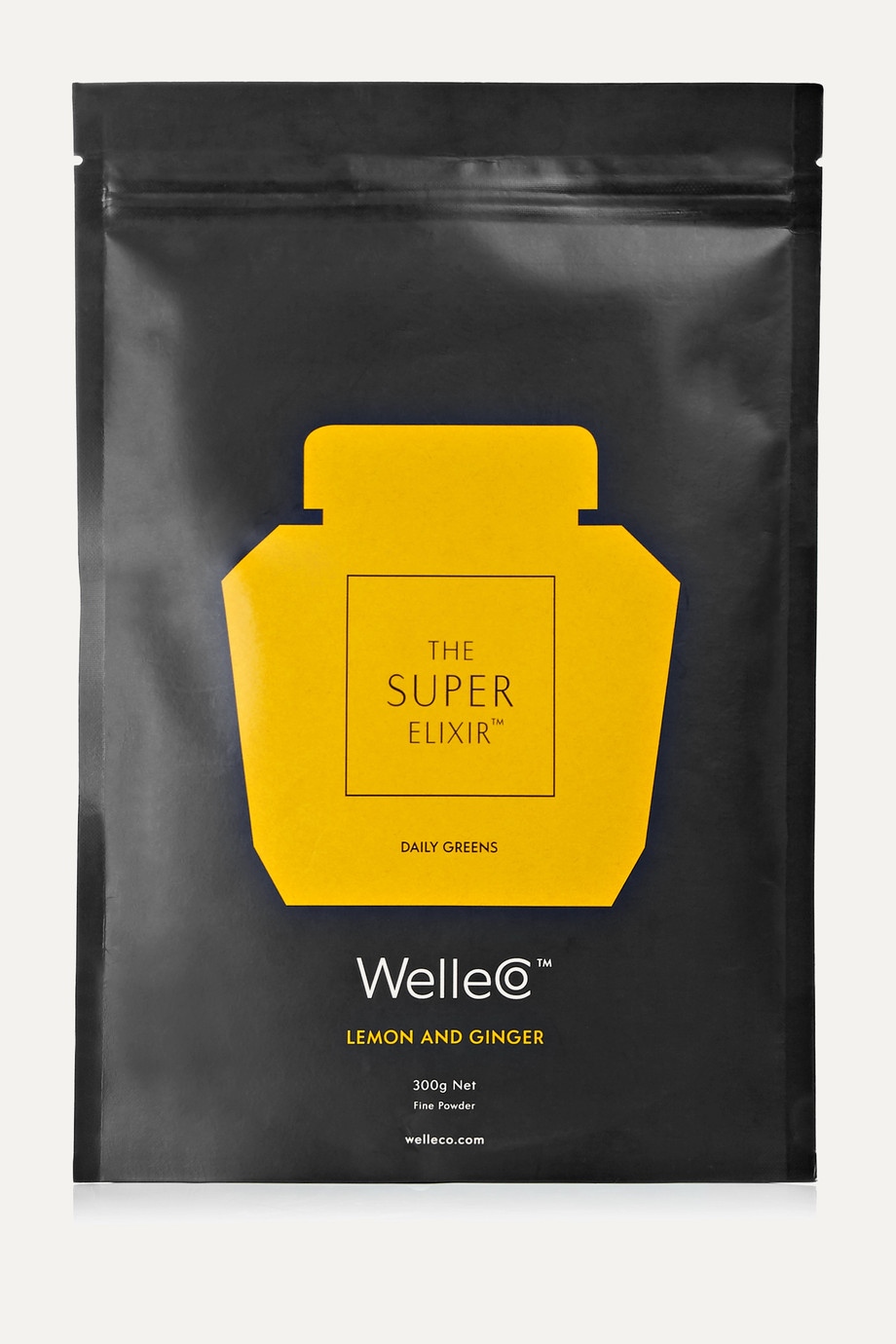 WelleCo Recharge de complément alimentaire The Super Elixir, Lemon and Ginger, 300 g