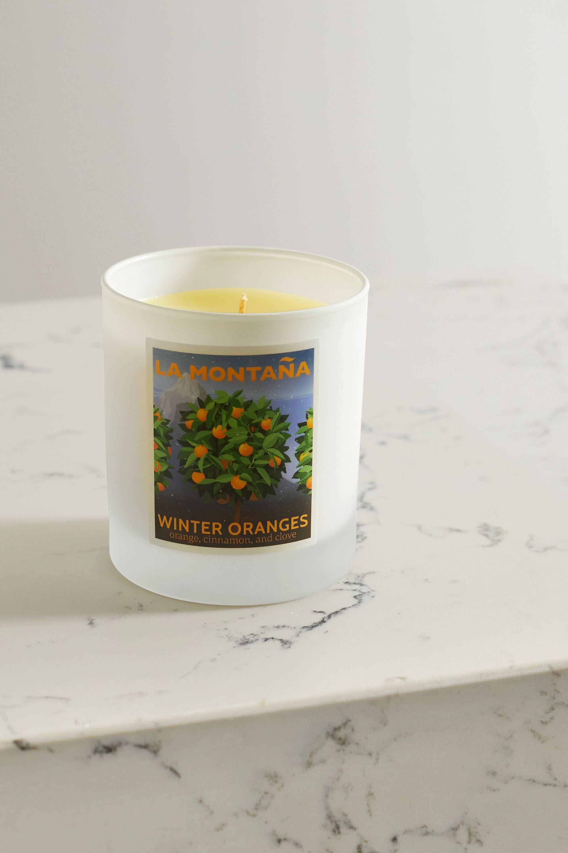 La Montaña Winter Oranges scented candle, 220g