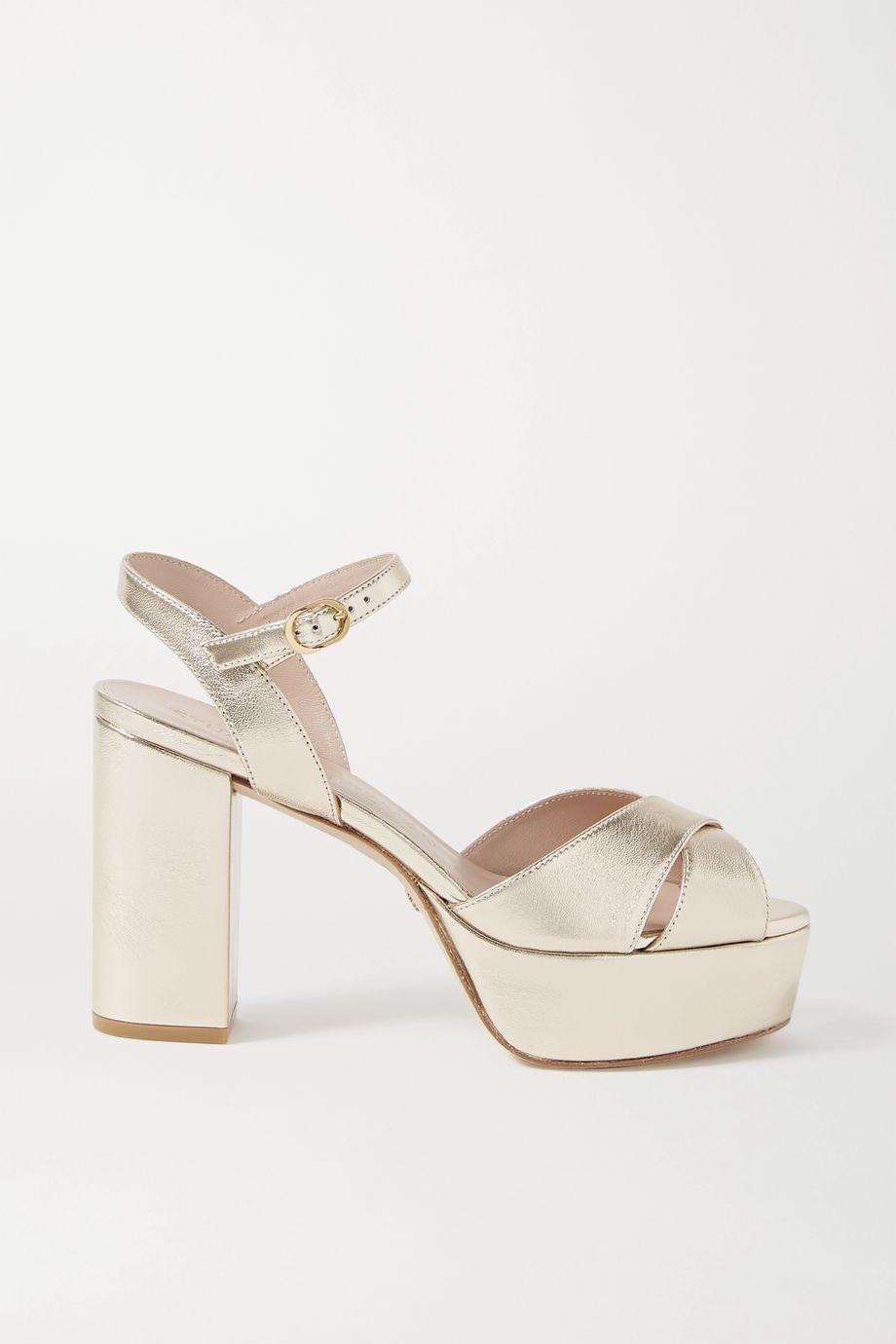 Stuart Weitzman Ivona metallic leather sandals