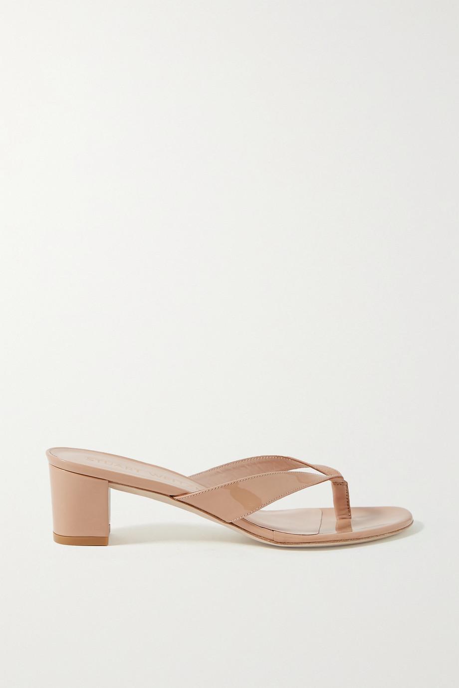 Stuart Weitzman Brigida patent-leather sandals