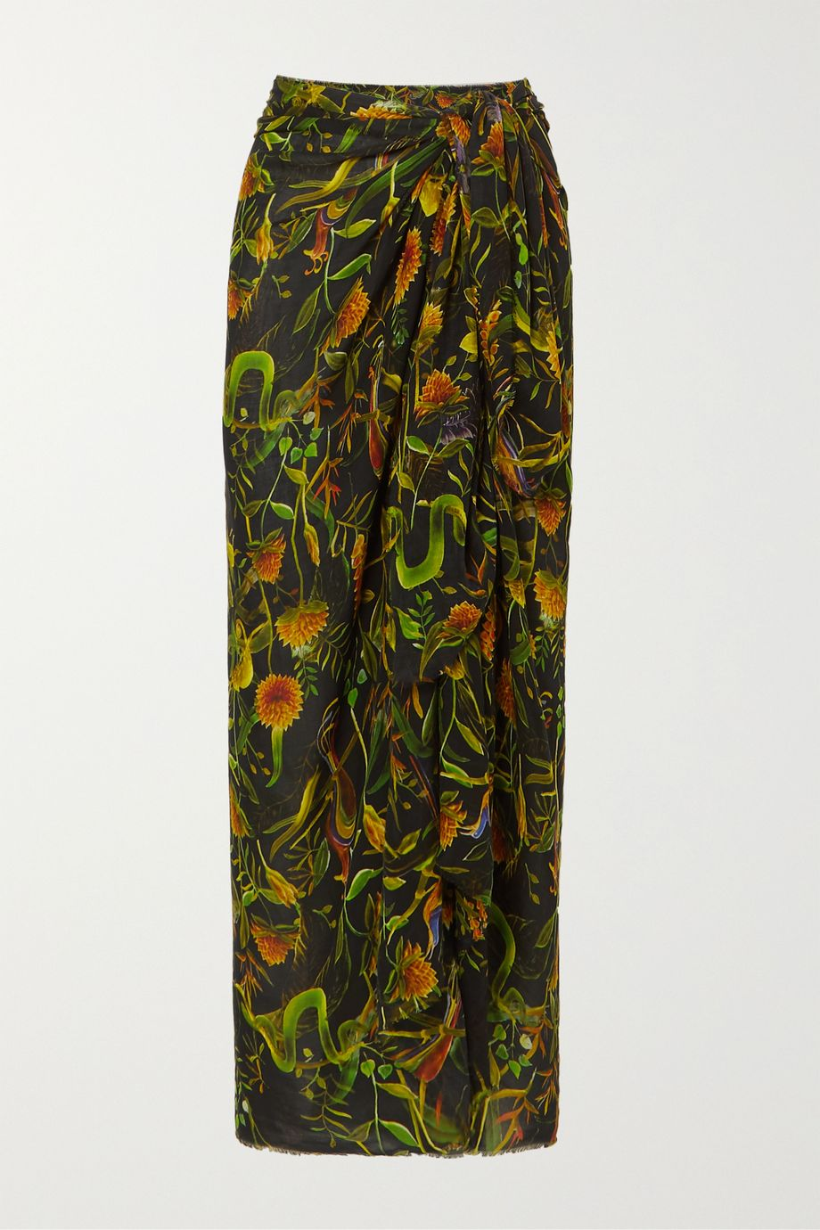 Dodo Bar Or + Annabel's printed cotton-voile pareo
