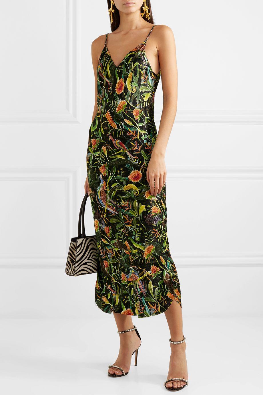 Dodo Bar Or + Annabel's printed silk-jacquard midi dress