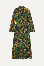 Dodo Bar Or + Annabel's printed stretch-jersey turtleneck midi dress