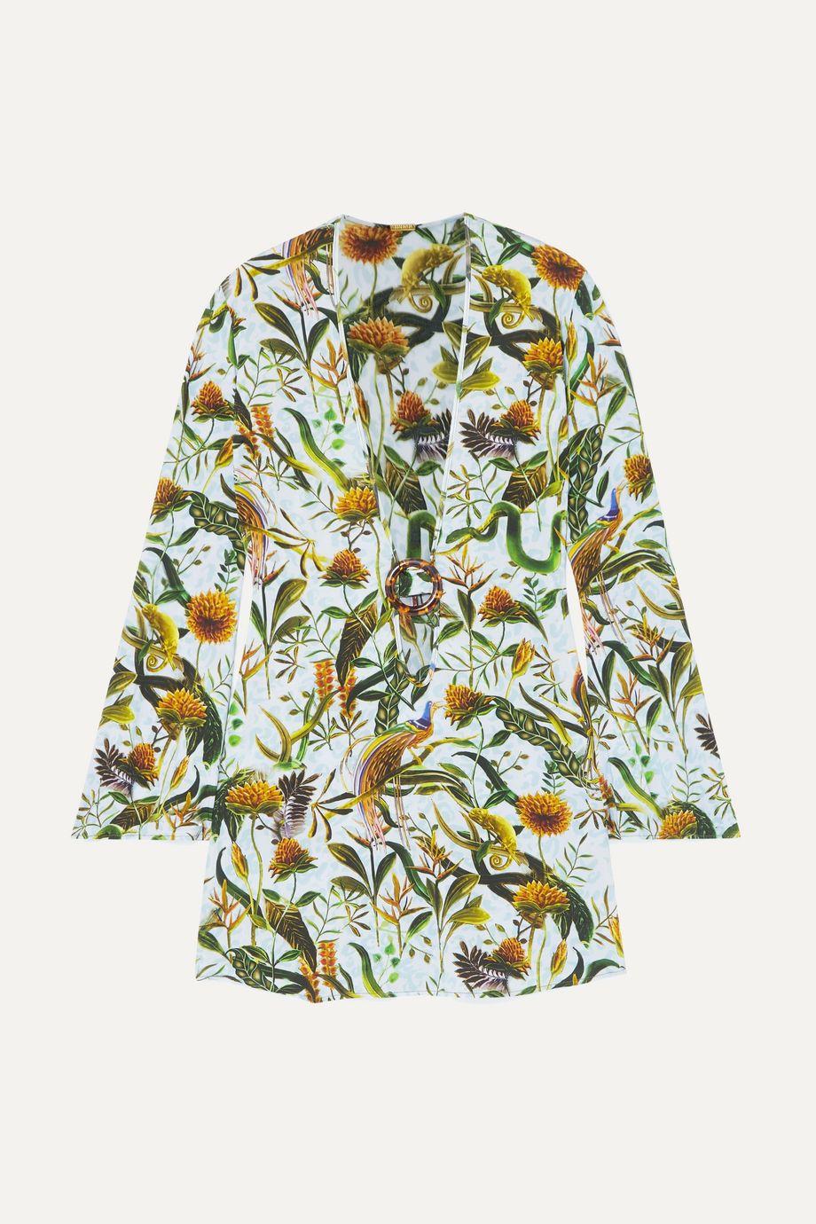 Dodo Bar Or + Annabel's cutout printed stretch-jersey mini dress