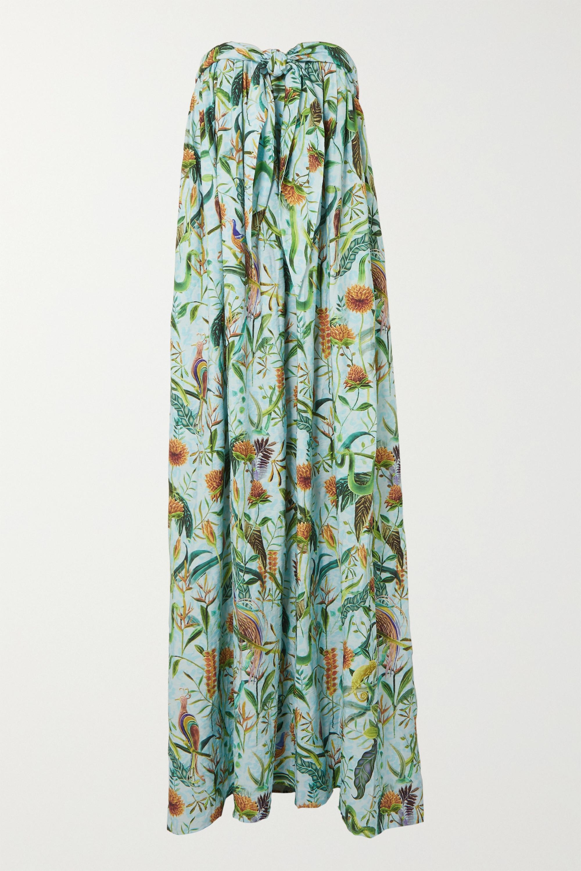 Dodo Bar Or + Annabel's strapless printed cotton maxi dress