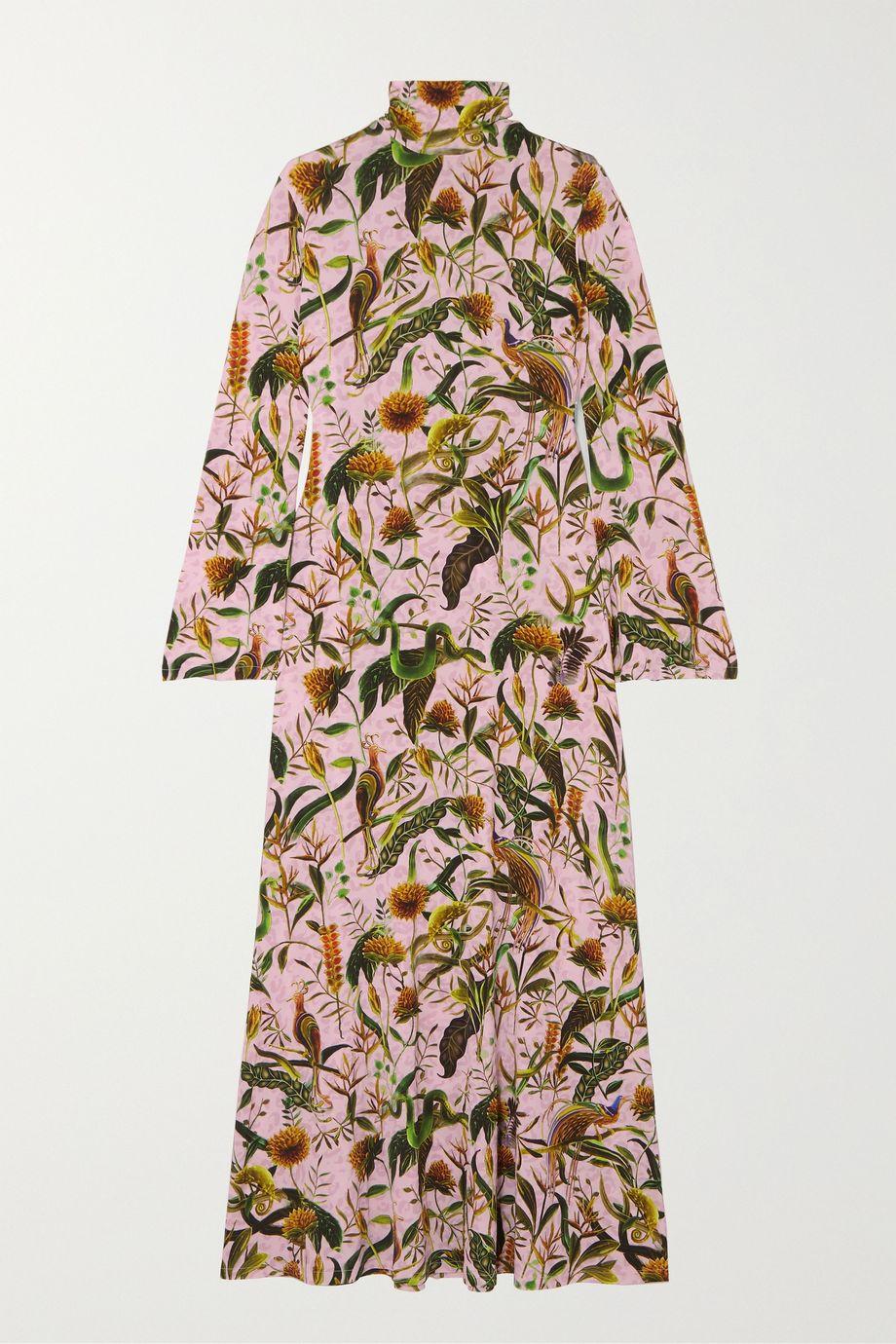 Dodo Bar Or + Annabel's printed stretch-jersey turtleneck maxi dress