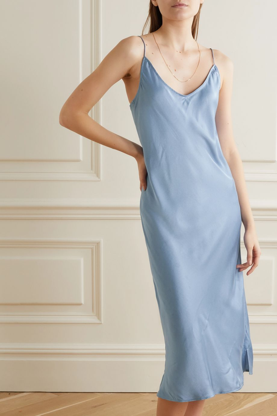 Skin Terra stretch-silk satin chemise