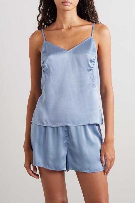 Tabatha stretch-silk satin camisole