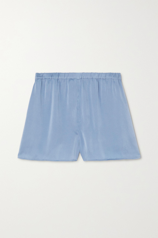 Skin Trista stretch-silk satin shorts