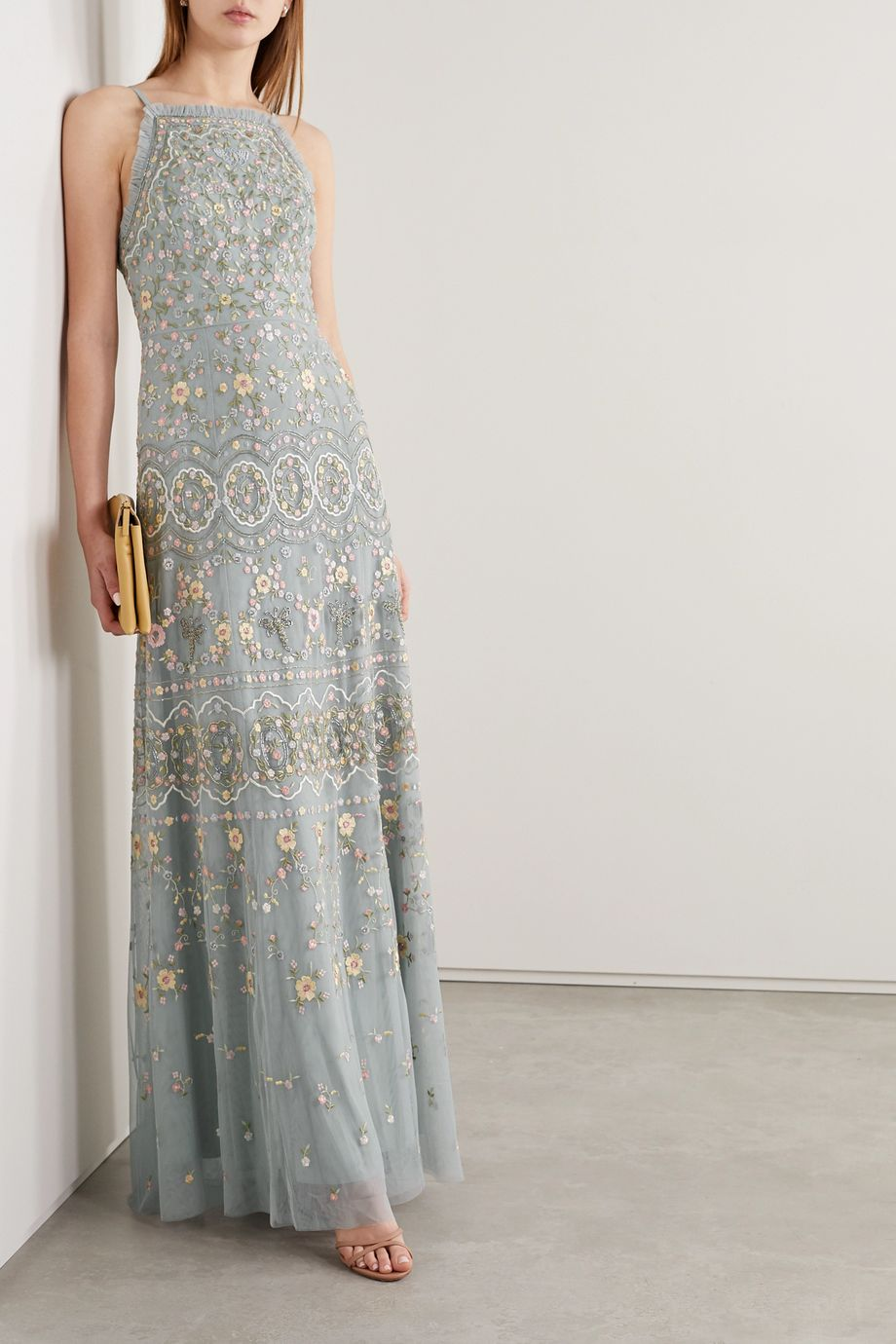 Needle & Thread Sweet Petal embellished embroidered tulle gown