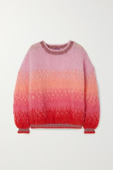 Lurex Trimmed Ombré Mohair Blend Sweater by Rose Carmine