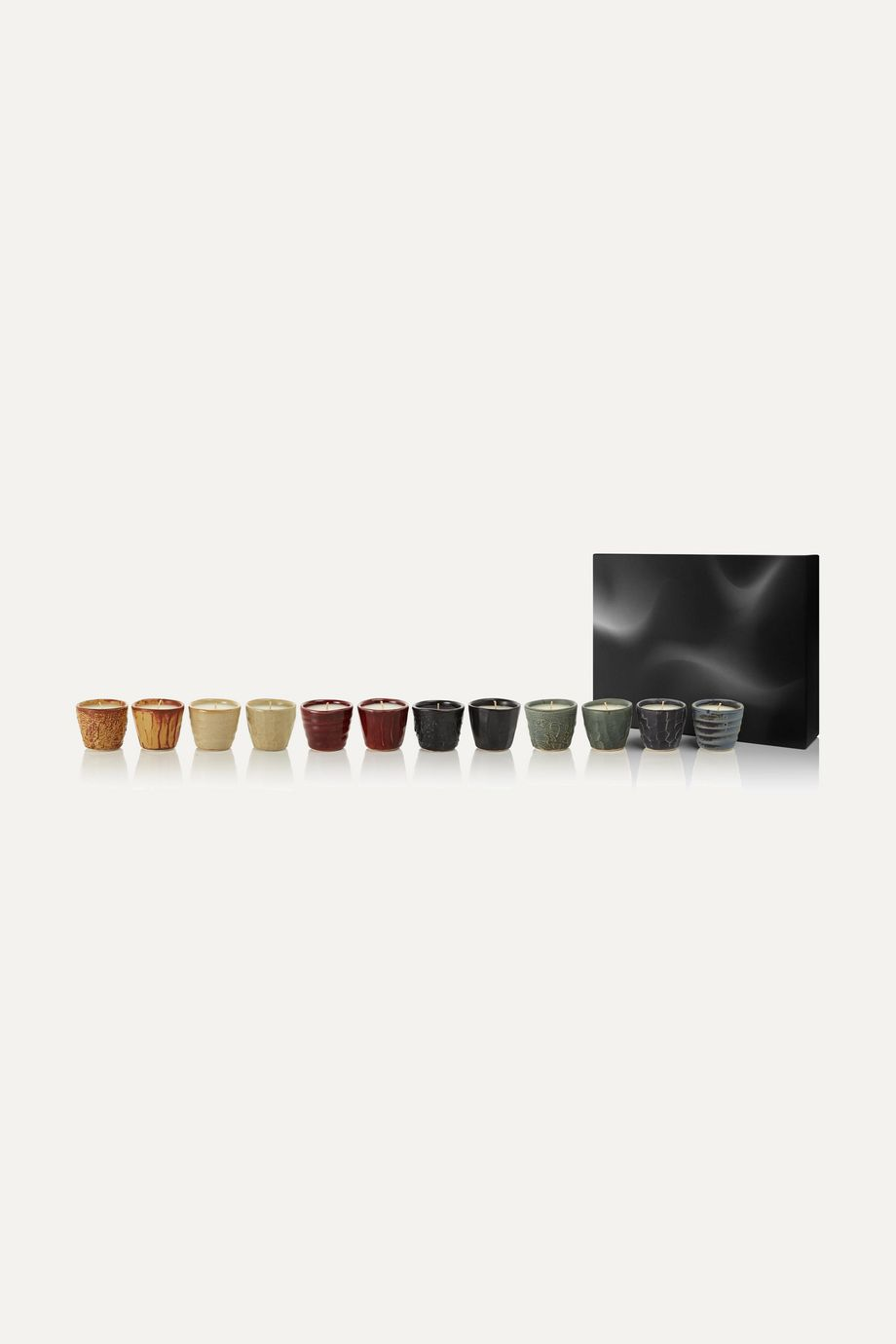 Tom Dixon The Collector set of 12 scented candles, 12 x 75g