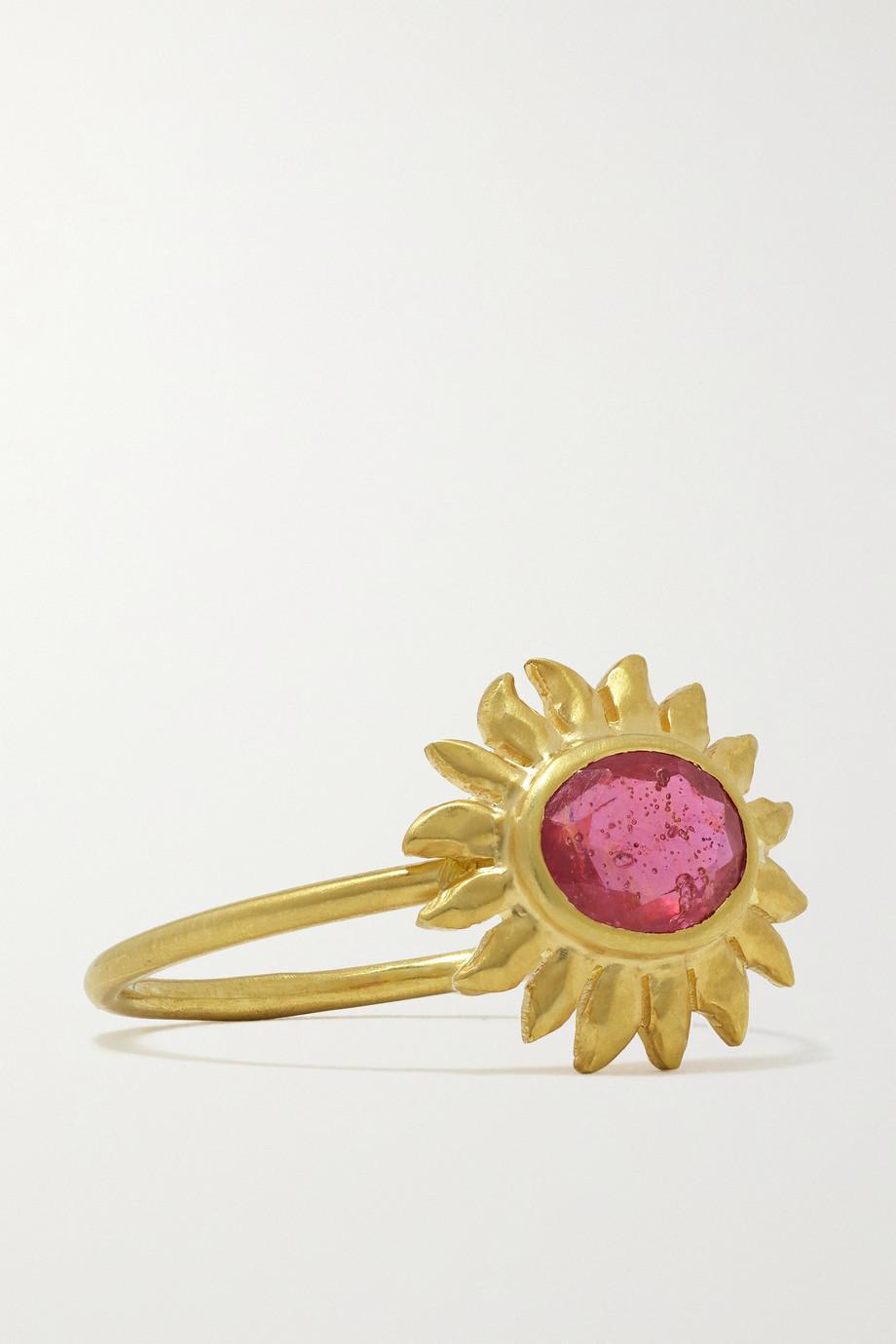 Pippa Small Hello Sunshine 18-karat gold ruby ring