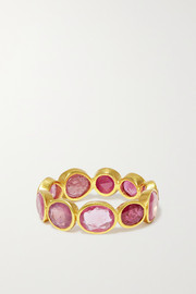 Pippa Small 18-karat gold ruby ring